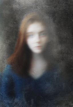 Svitozar Bilorusov BLURRED SAD GIRL WITH RED HAIR Women