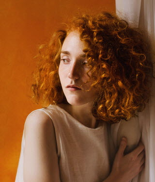 Svitozar Bilorusov WORRIED GIRL WITH CURLY RED HAIR Women
