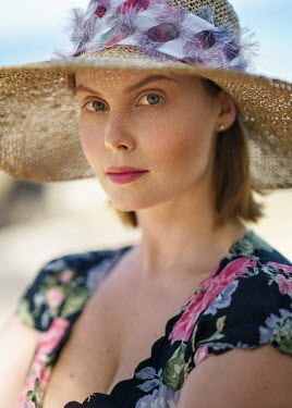 Alexey Kazantsev Young woman in straw hat