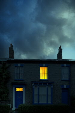 Magdalena Russocka lights on in old townhouse at night