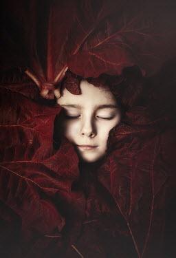 Anna Buczek Girl under red leaves