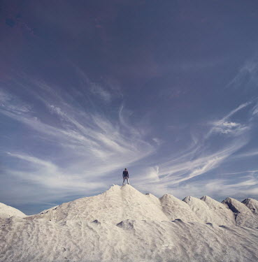 Christophe Dessaigne Man standing on sand dunes