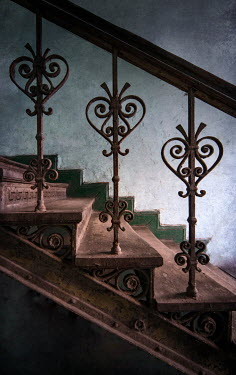 Jaroslaw Blaminsky Wrought iron railing of staircase