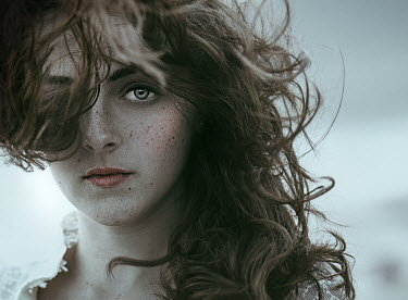 Jessica Drossin Teenage girl with hair in wind