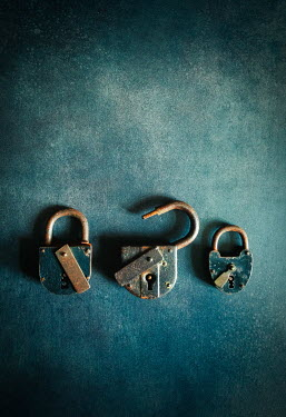 Jane Morley THREE RUSTY PADLOCKS Miscellaneous Objects