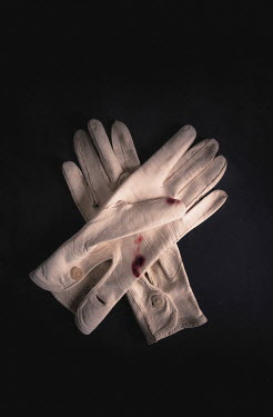 Jane Morley BLOODSTAINED WHITE LEATHER GLOVES Miscellaneous Objects