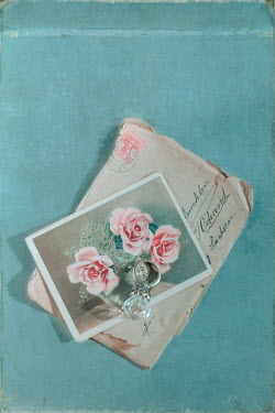 Magdalena Wasiczek FLORAL CARD WITH ENVELOPE AND RING Miscellaneous Objects