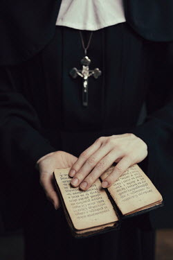 Dorota Gorecka NUN WITH CRUCIFIX HOLDING BIBLE Women