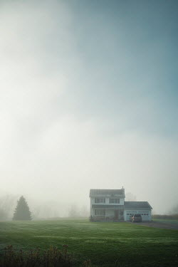Evelina Kremsdorf HOUSE AND CAR IN MISTY COUNTRYSIDE Houses