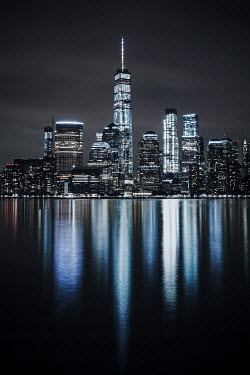 Evelina Kremsdorf NEW YORK SKYLINE REFLECTED IN WATER Miscellaneous Cities/Towns