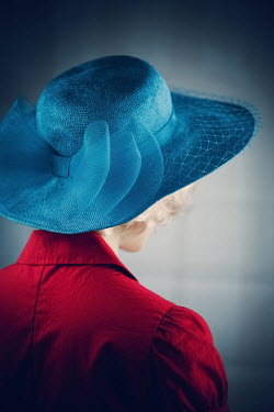 Magdalena Russocka close up of woman in blue hat