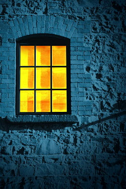 Magdalena Russocka Lit Window at Night