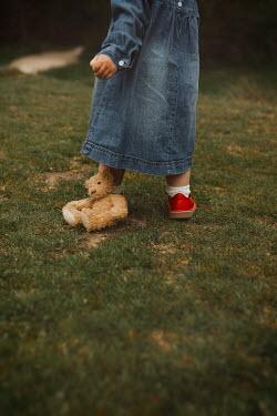 Shelley Richmond LITTLE GIRL WITH TEDDY IN GARDEN Children