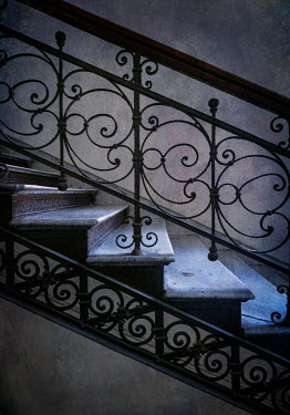Jaroslaw Blaminsky DECORATIVE METAL STAIRCASE IN SHADOW Stairs/Steps