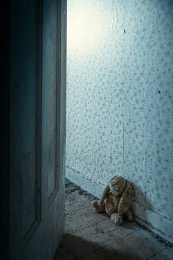 Magdalena Russocka stuffed toy abandoned in old derelict house