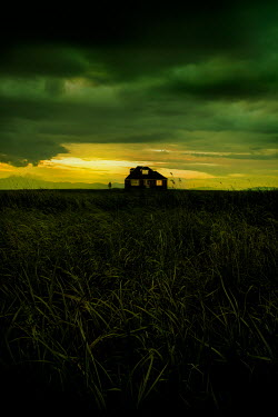 Stephen Mulcahey silhouette of a house in the marshes Houses