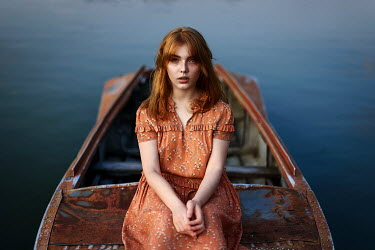 Ulyana Naydenkova GIRL WITH RED HAIR SITTING IN BOAT Women
