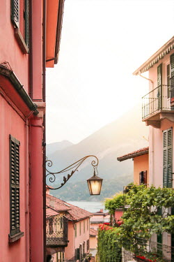 Evelina Kremsdorf Street light on house in Lake Como, Italy