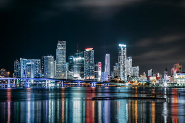 Evelina Kremsdorf Cityscape of Miami, Florida at night