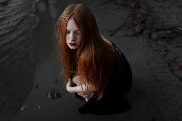 Ulyana Naydenkova Young woman on beach