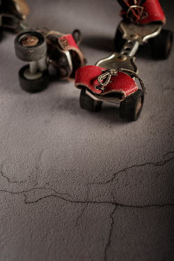 Maria Petkova CLOSE UP OF RETRO ROLLER SKATES Miscellaneous Objects