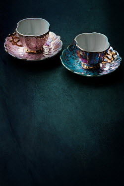 Maria Petkova TWO PATTERNED CHINA TEACUPS Miscellaneous Objects