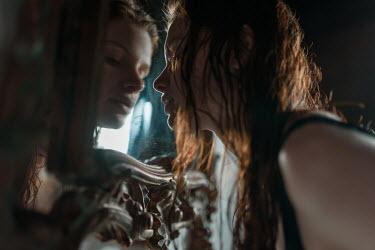Ulyana Naydenkova WOMAN WITH RED HAIR REFLECTED IN ORNATE MIRROR Women