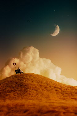 Hardi Saputra SPACEMAN SITTING BY STOP WATCHING MOON Miscellaneous Objects