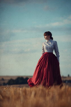 Magdalena Russocka historical woman in countryside