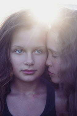 Anna Rakhvalova FACES OF TWO YOUNG GIRLS IN SUNLIGHT Children