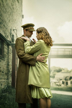 CollaborationJS A wartime couple; embracing