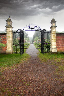 ILINA SIMEONOVA OPEN GATEWAY WITH GRAND GARDEN AND STORMY SKY Gates