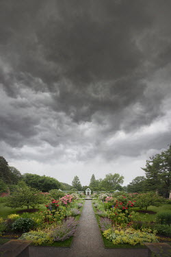 ILINA SIMEONOVA GRAND GARDEN WITH GAZEBO AND STORMY SKY Miscellaneous Buildings