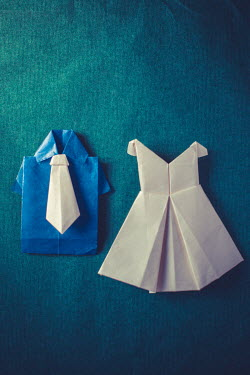 Marie Carr FOLDED PAPER MINIATURE CLOTHING Miscellaneous Objects