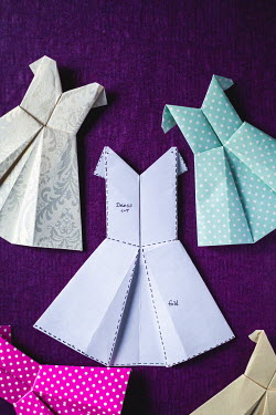 Marie Carr FOLDED PAPER MINIATURE DRESSES Miscellaneous Objects