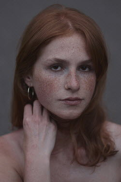 Anna Rakhvalova Portrait of young woman with freckles