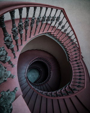 Jaroslaw Blaminsky Spiral staircase from above