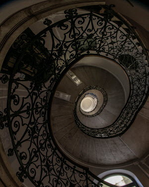 Jaroslaw Blaminsky Spiral staircase from below