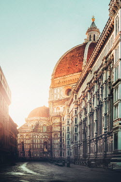 Evelina Kremsdorf Florence Cathedral at sunset in Florence, Italy