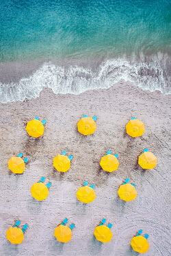 Evelina Kremsdorf Umbrellas and sun loungers on Cocoa Beach in Florida