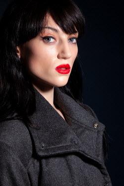 Miguel Sobreira Woman in Grey Coat  Portrait