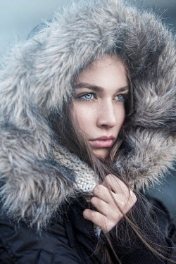 Nina Masic Young woman in fur hood