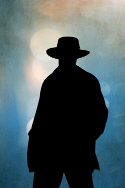 Magdalena Russocka silhouette of man wearing fedora hat