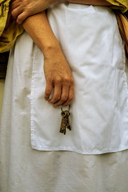 Stephen Mulcahey Detail of a maid holding a set of keys