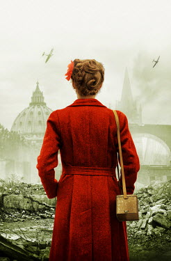 Stephen Mulcahey WOMAN WATCHING PLANES IN BOMBED CITY Women