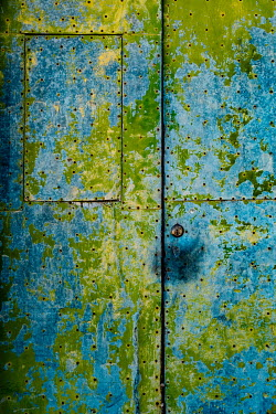 Magdalena Wasiczek METAL DOOR WITH BLUE AND GREEN PATINA Building Detail