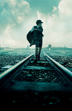 Stephen Mulcahey schoolboy running on railway tracks from concentration camp Children
