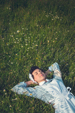 Joanna Czogala RETRO NURSE LYING IN GRASS IN SUMMER Women