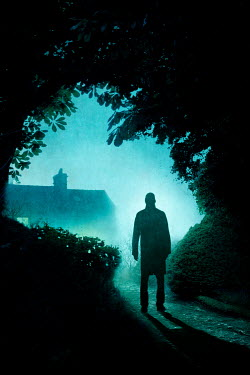 Lee Avison sinister man in silhouette looking at a house at night
