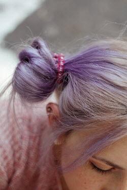 Alina Zhidovinova GIRL WITH PURPLE HAIR AND PINK BEADS Women